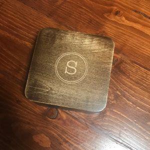 Tin Box with wood lid
